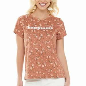 Sonoma Happiness Graphic Floral Tee